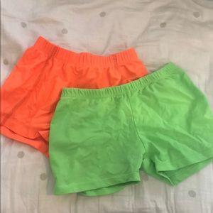 Pants - Bundle: 2 Neon Spandex Shorts